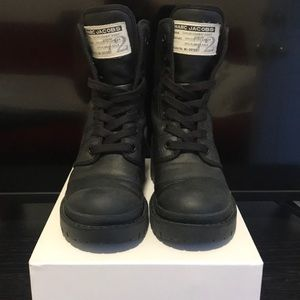 Marc Jacobs Canvas combat boot